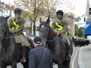 London Queen's Household Cavalry -- 2 Men Keeping a Lookout