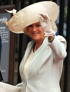 Beautiful big hat on Camilla