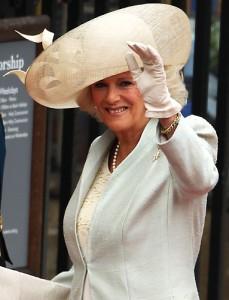 Beautiful big hat on Camilla