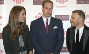 Kate Middleton, Price Williams, and Gary Barlow