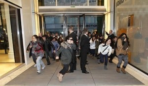 On Boxing Day 2011, shoppers stampede through the doors at London's Selfridges.