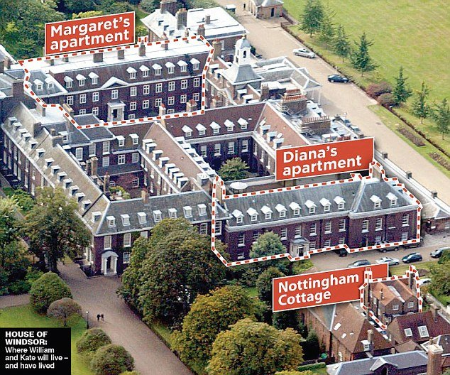 Will and kate to live in kensington palace london perfect Nottingham cottage kensington palace pictures