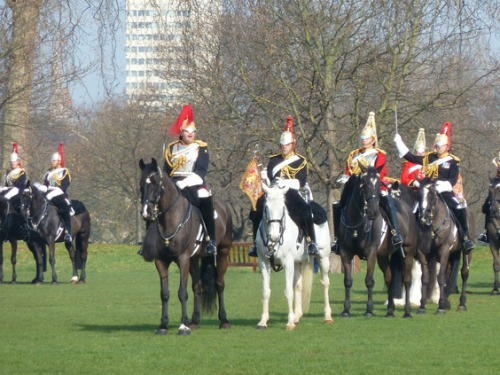 London Household Cavalry Inspection Hyde Park