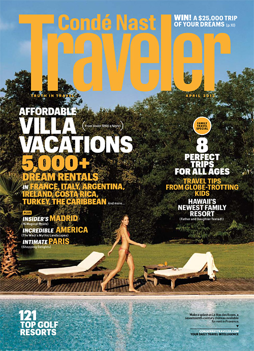 London Perfect Selected for Condé Nast Traveler's World's Top Villa Rental Specialists List for 2012!