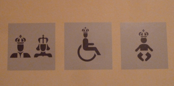 Kensington Palace Royal Bathroom Signs