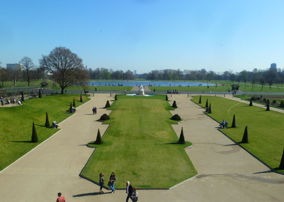 View of Kensington Gardens from Palace