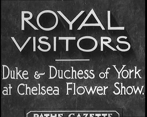 Royal Visits to the Chelsea Flower Show