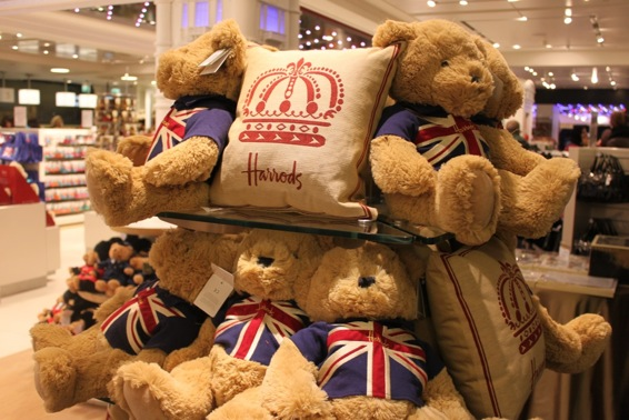 Cuddly Union Jack bears from Harrods