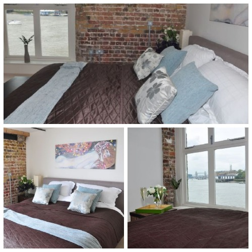 London Vacation Rental Thames Views Master Bedroom