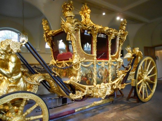 Royal Mews Buckingham Palace London Gold State Coach Detail