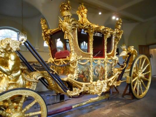 Royal Mews Buckingham Palace London Gold State Coach Detail