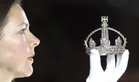 Queen Victoria's Small Diamond Crown Buckingham Palace