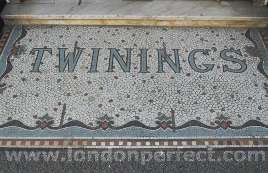 Entrance to Twinings Tea Shop the Strand London