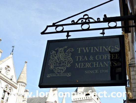 Historic Twinings Tea Shop in London