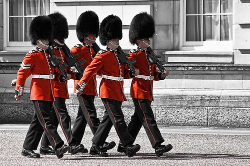 Watch the Changing of the Guards at Buckingham Palace in London