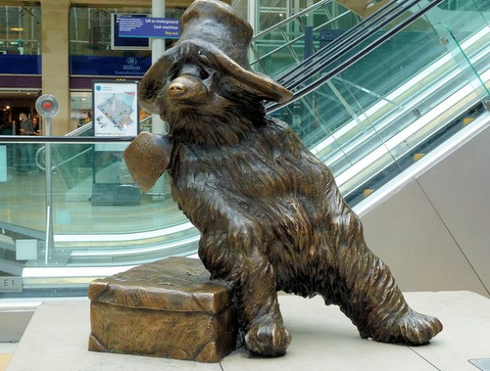 See the Paddington Bear Statue in Paddington Station in London