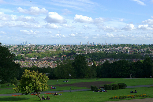 View of London from Alexandra Park