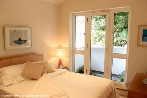 London Perfect Chelsea Vacation Rental Second Bedroom with Balcony