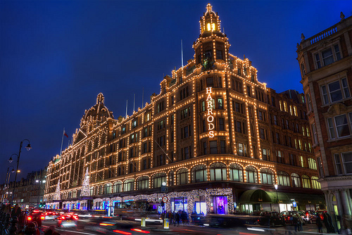 Christmas in London Harrods Holiday Shopping