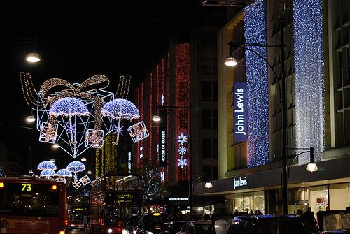 Christmas Lights and Holiday Shopping in London