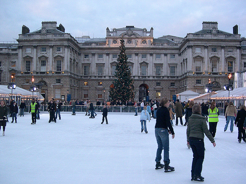 Somerset House Ice Rink near Trafalgar Square