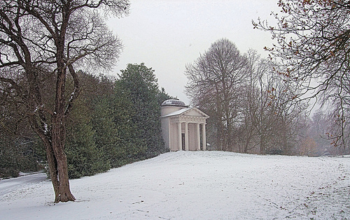Temple of Bellona Kew Garden Winter London