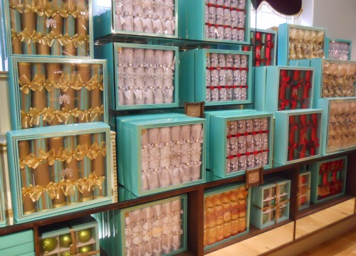 Christmas Crackers at Fortnum and Mason in London