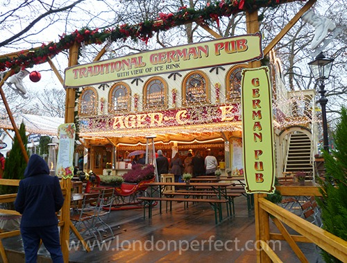 German Pub Winter Wonderland Hyde Park London