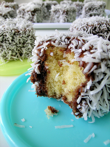 Lamingtons Dessert with Coconut