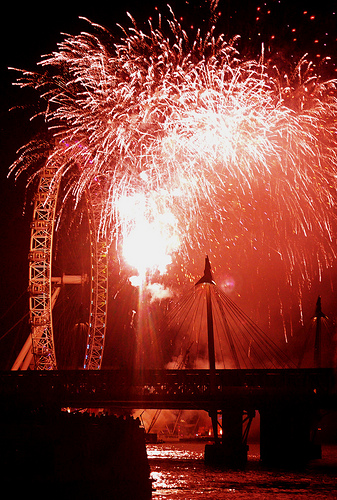 London New Year's Eve Fireworks London Eye