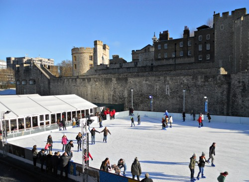 Ice Skating at Tower of London