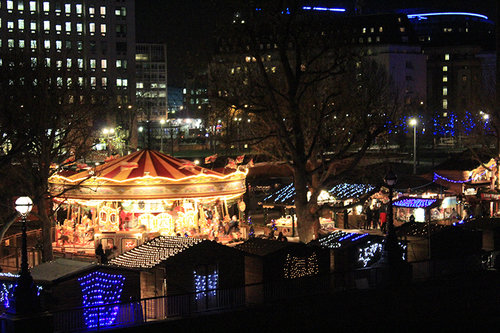 Christmas Market in London Southbank