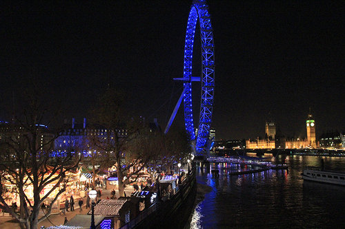 Southbank Christmas Market in London