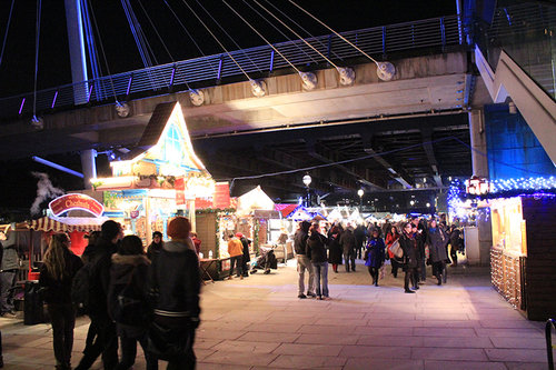 Jubilee Bridge Southbank Christmas Market