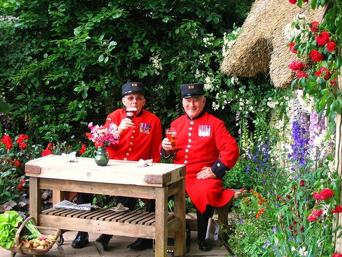 Chelsea Pensioners at the Chelsea Flower Show London 2013