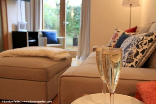 Romantic London apartment in Cheslea with private garden