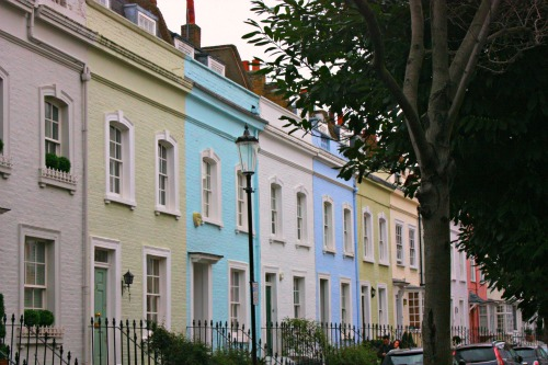 Pretty Pastel Houses in Chelsea London Small