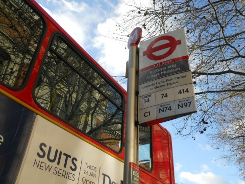 Bus stop sign London