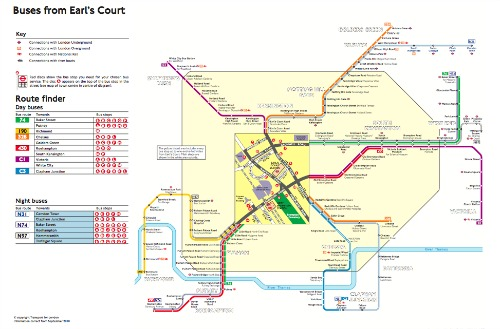 London bus maps