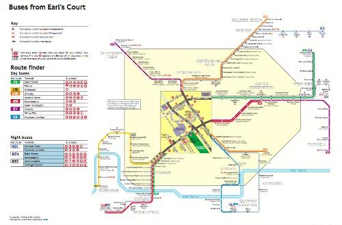 London bus maps