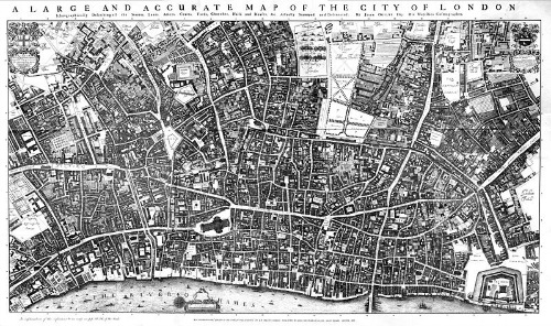 City of London Ogilby and Morgan's Map 1677