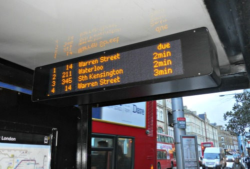 Electronic Bus Timetable London