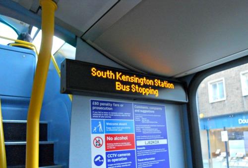 London Bus Stop Sign