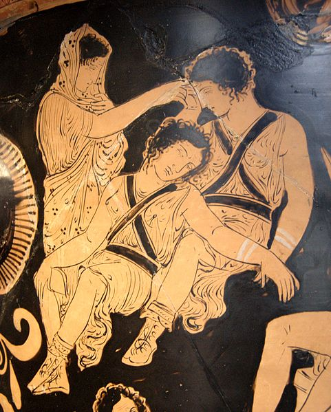 Greek Tragedy on Painted Vase