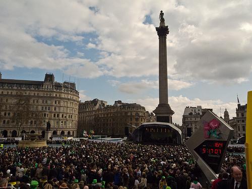 St. Patrick's Day in Trafalgar Square London