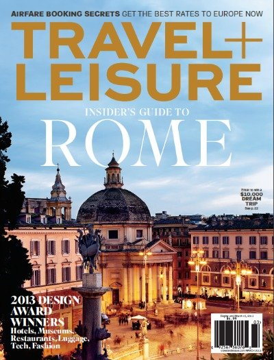 Travel + Leisure March 2013 Cover small