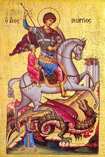 Saint George Byzantine Icon