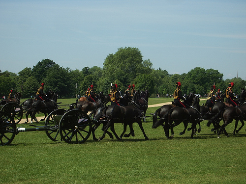 King's Troop Royal House Artillery Hyde Park London