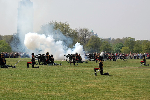 Queen's Birthday 41 Gun Salute Hyde Park London