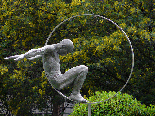 Sculpture in Cadogan Place Gardens